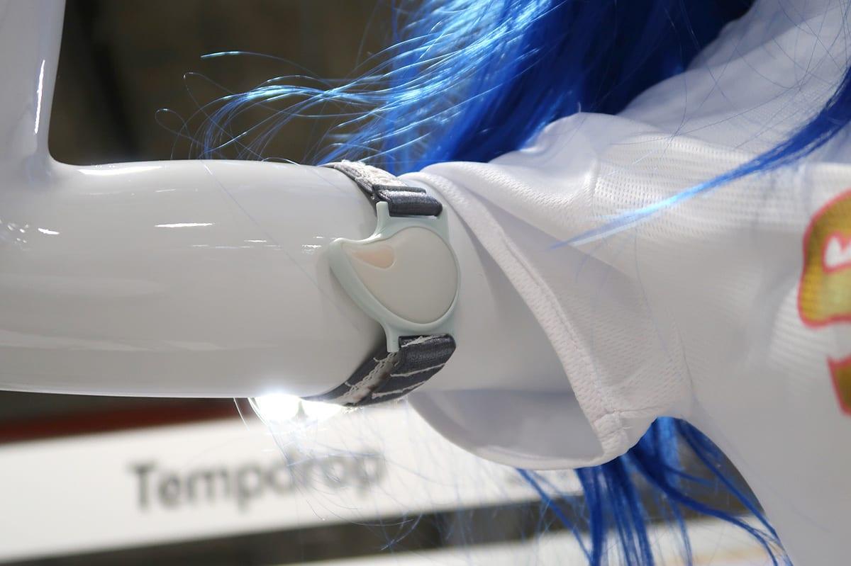Tempdropは腕の下につけて寝ます