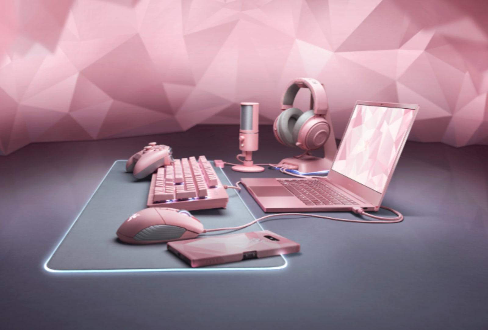 Razer Quartz Pink range