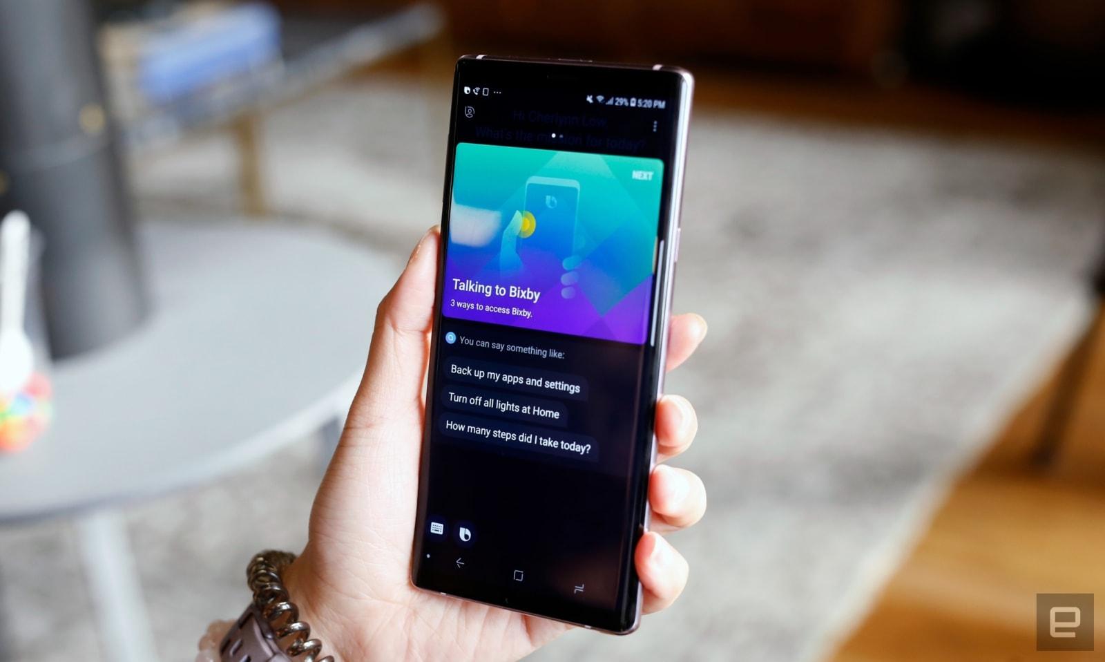 Bixby on Samsung Galaxy Note 9