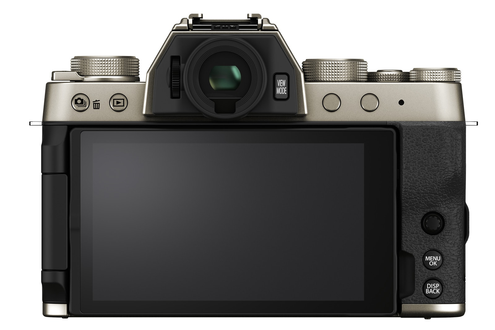 Fujifilm X-T200 mirrorless camera rear view