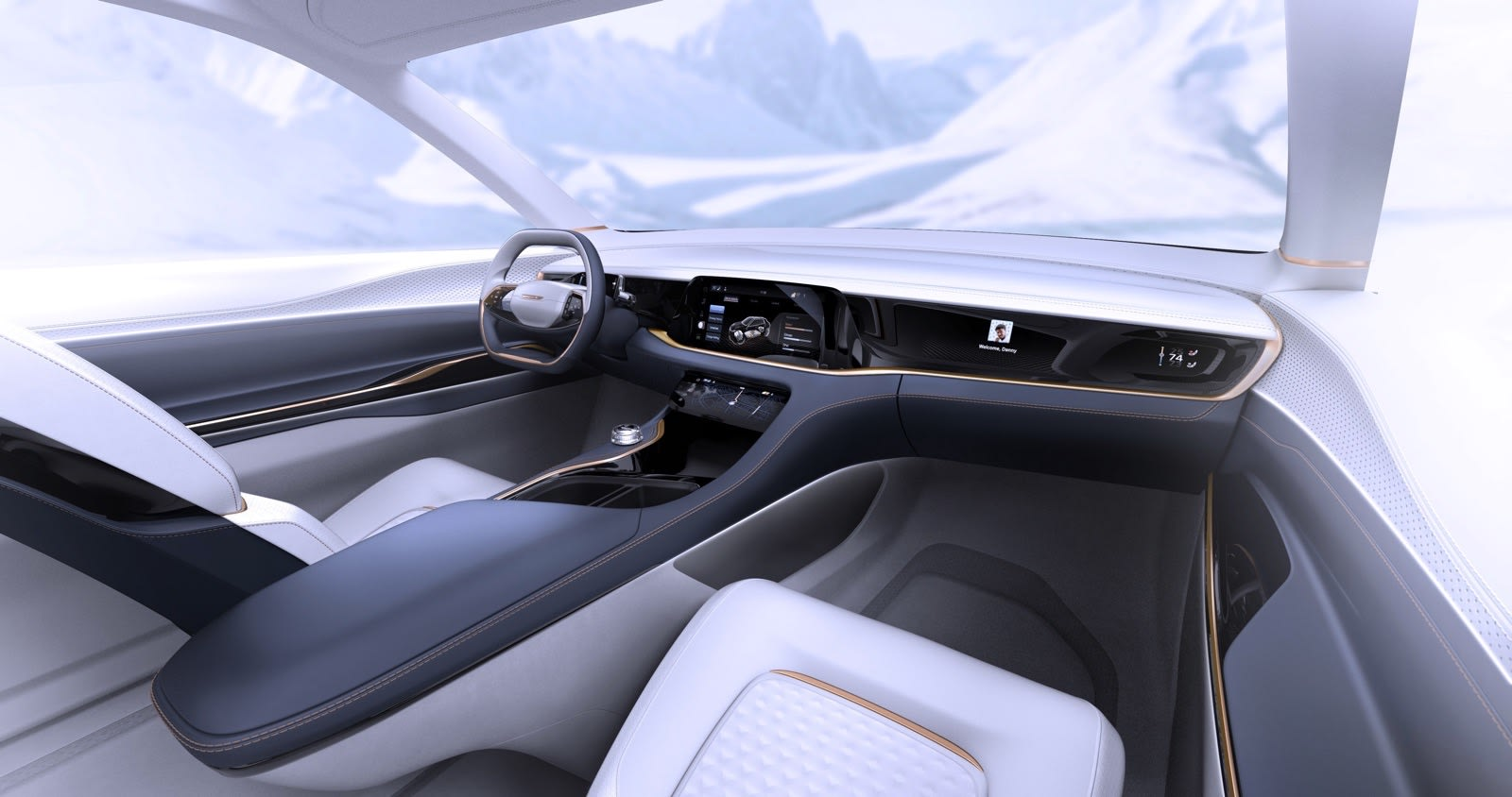 Fiat Chrysler Airflow Vision concept car interior