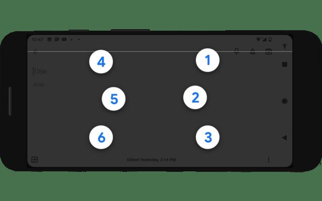 Google Talkback braille keyboard