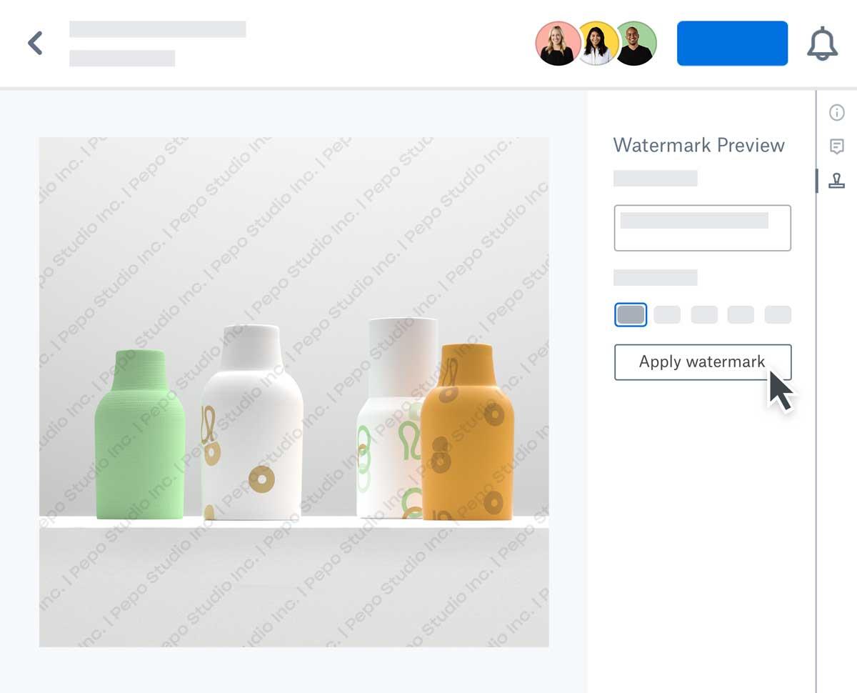 Dropbox watermarking