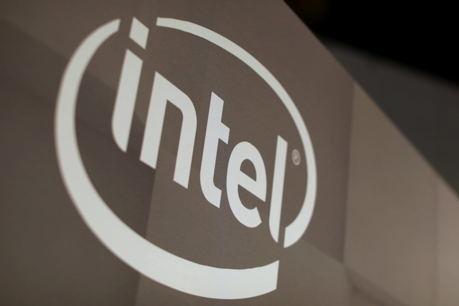 The Intel logo is shown at the E3 2017 Electronic Entertainment Expo in Los Angeles, California, U.S. June 13, 2017.  REUTERS/ Mike Blake