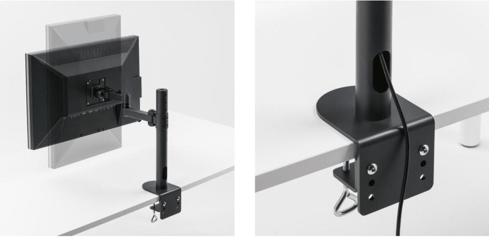Sanwa CR-LA1701BK Monitor Arm Use Image