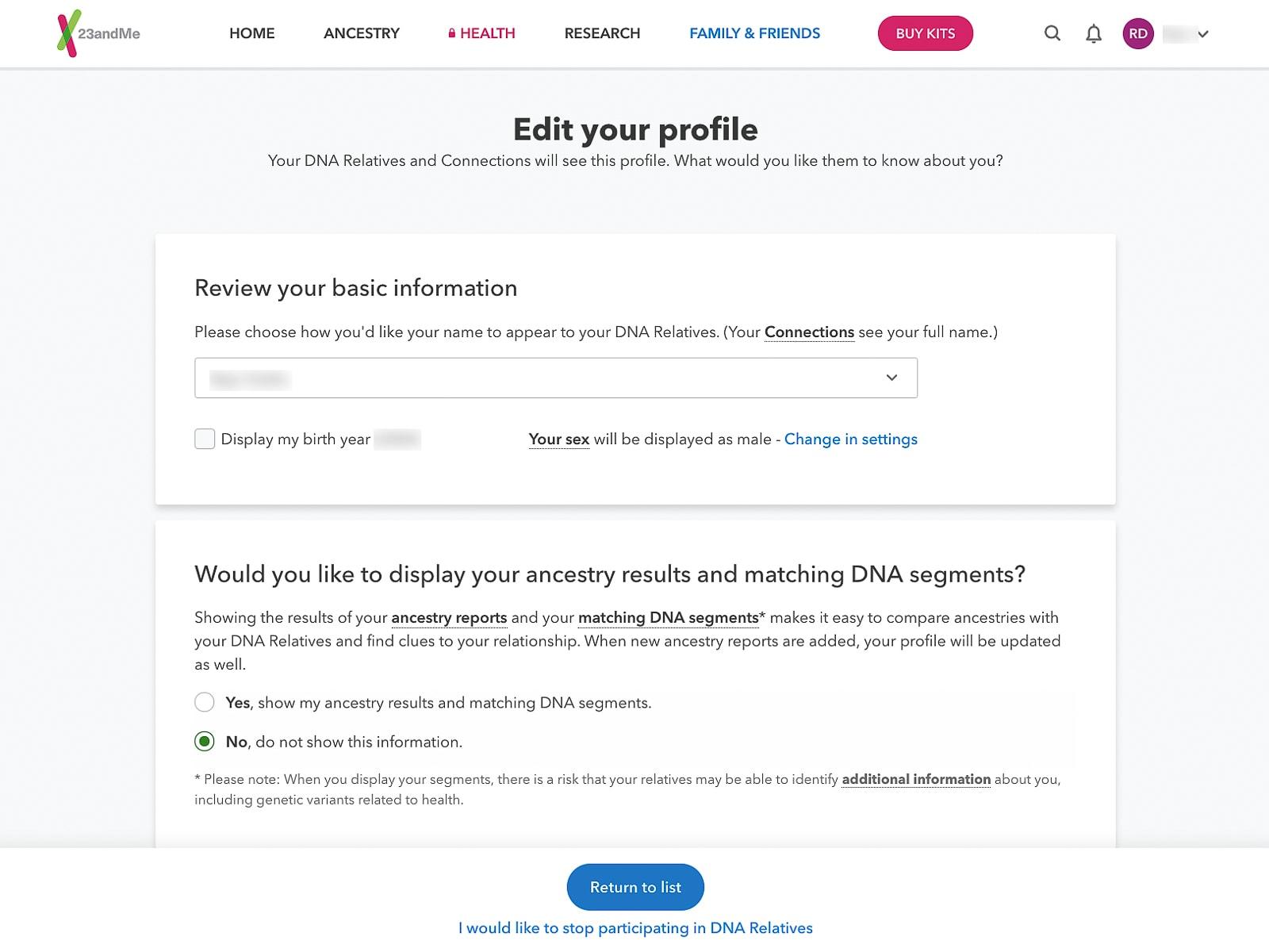 DNA testing kit