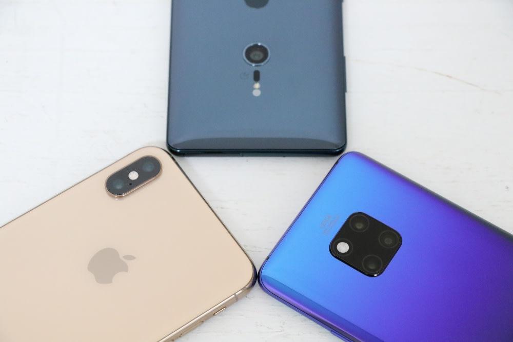 iPhone XS Max Xperia XZ3 Mate 20 Pro