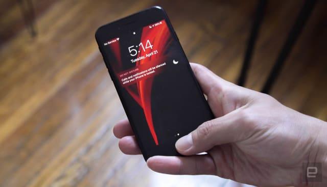 Apple iPhone SE lock screen