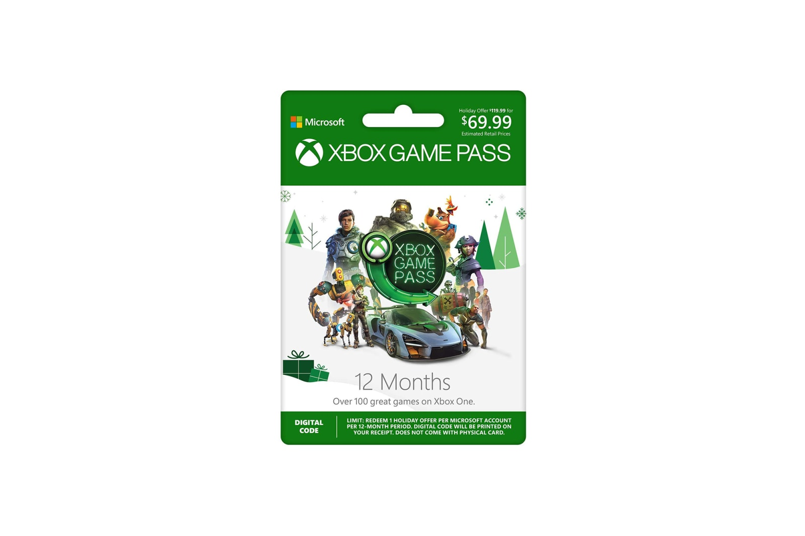 Xbox Games Pass 12-Month Membership