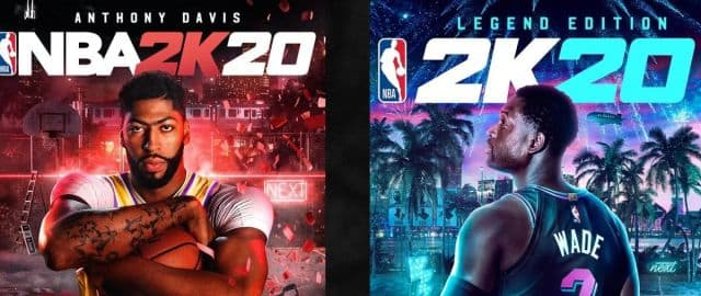 NBA 2K20 covers