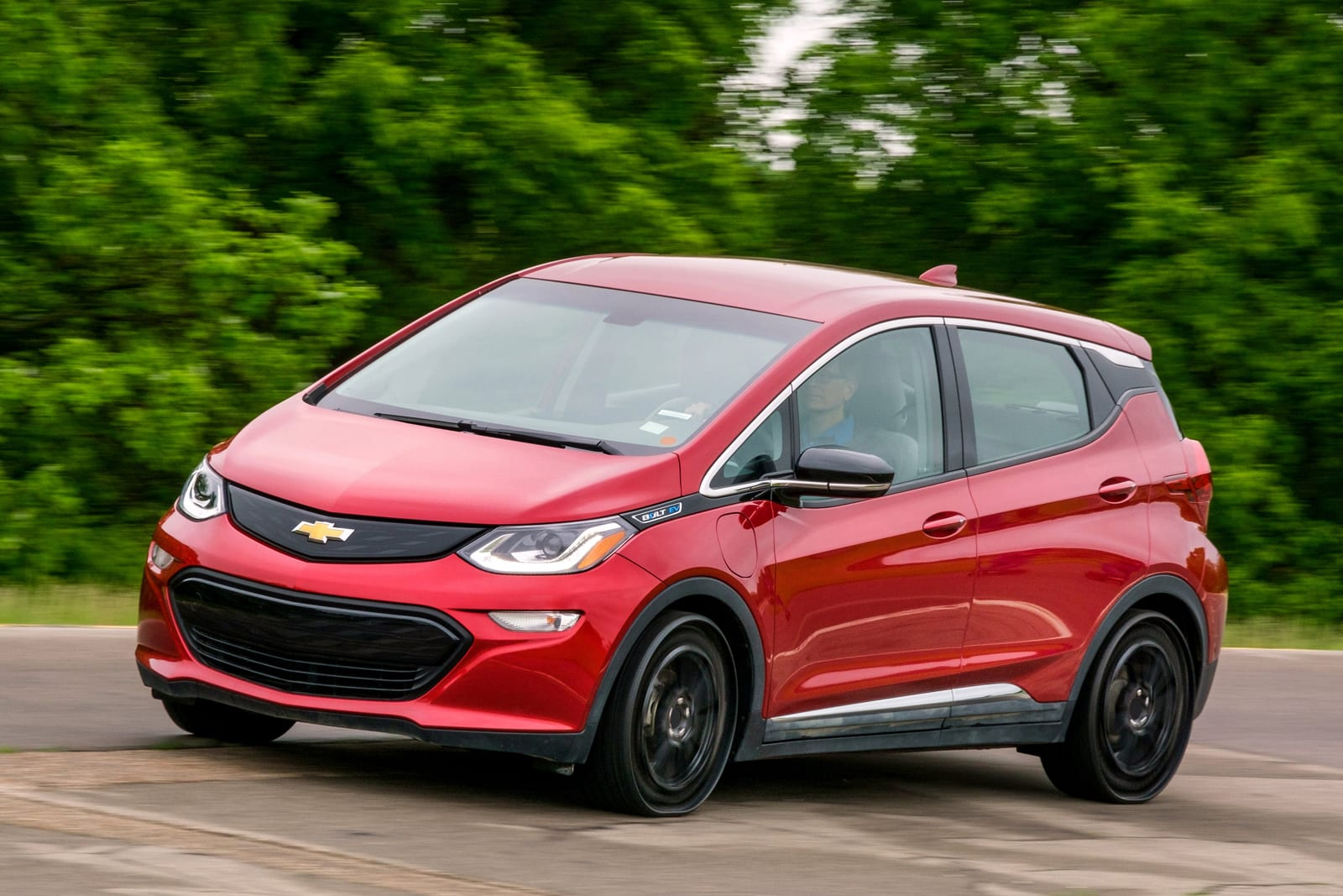 Michelin Uptis airless tires on a Chevy Bolt EV