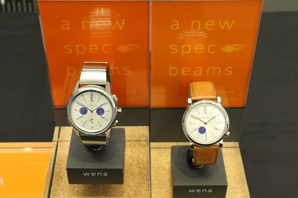 wena wrist Three Hands Retro Silver head beams edition(WNH-HT22/S) wena wrist Chronograph Classic Silver head beams edition(WNH-HC22/S)