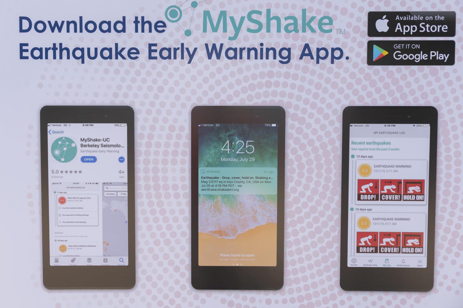 California earthuake warning