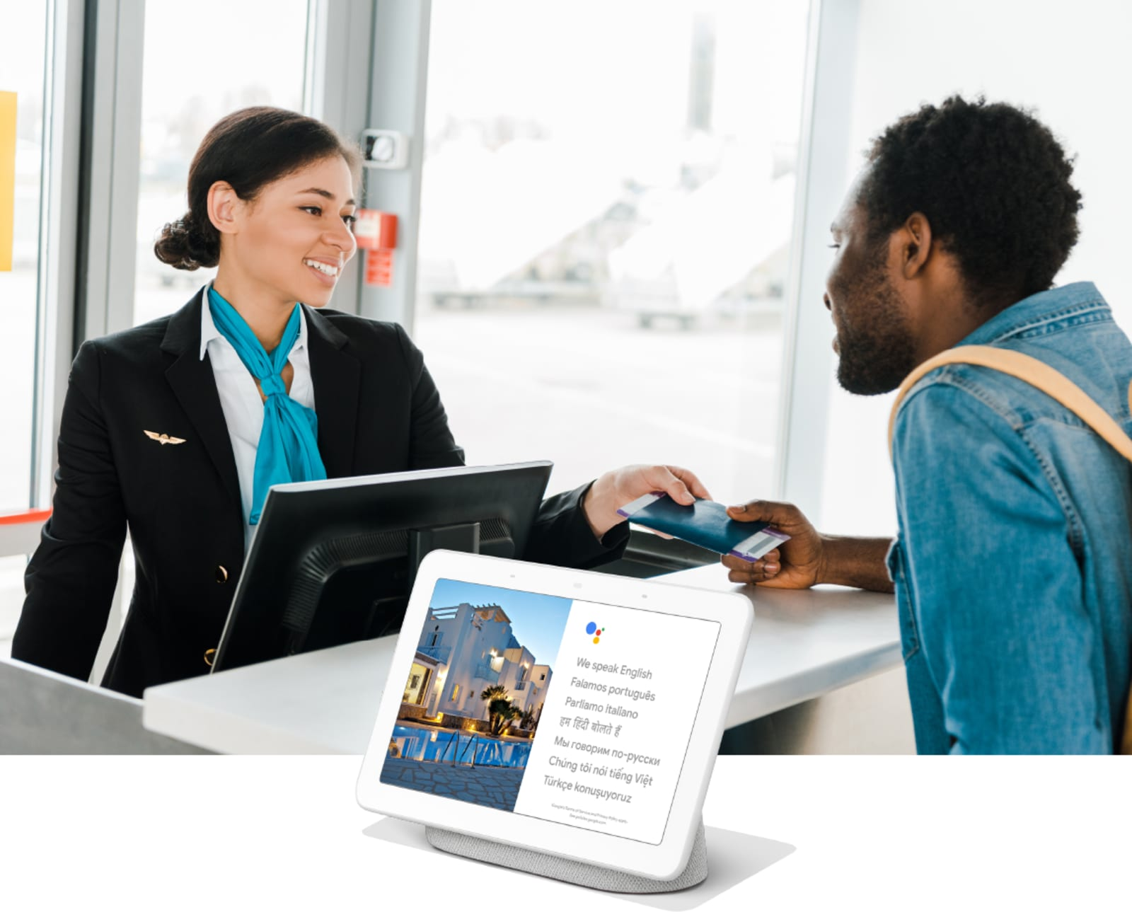Google Assistant Interpreter Mode at airports