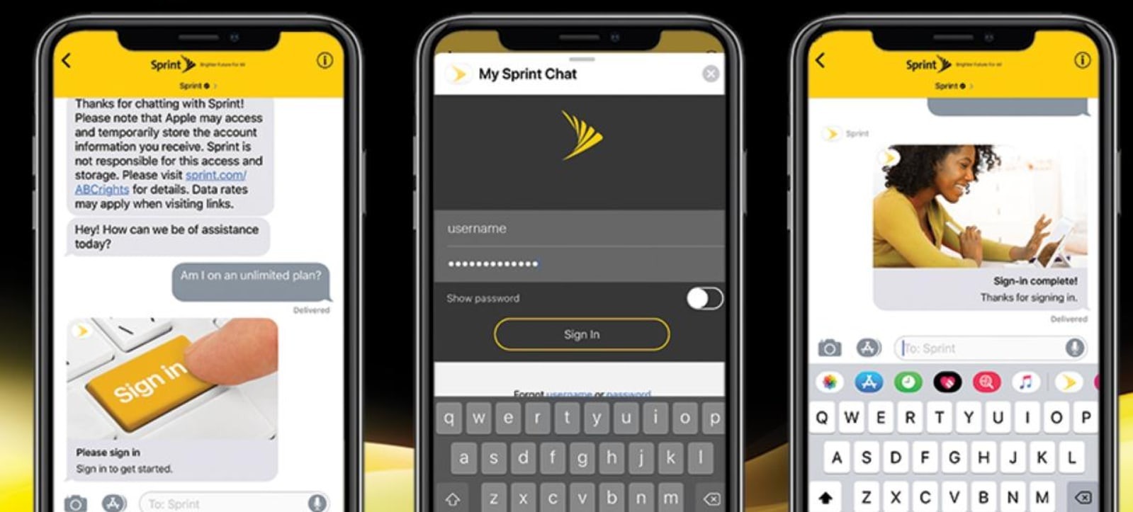 Apple Business Chat for Sprint
