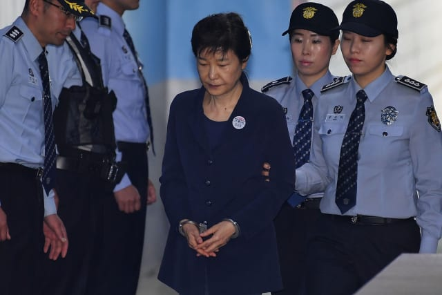 Former South Korea President Park Geun-hye Appears In Court for Trial