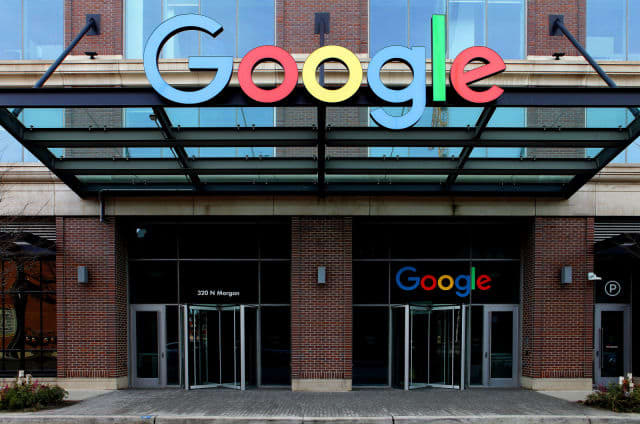 Google Chicago Headquarters in Fulton Market in Chicago, Illinois on February 2, 2020.