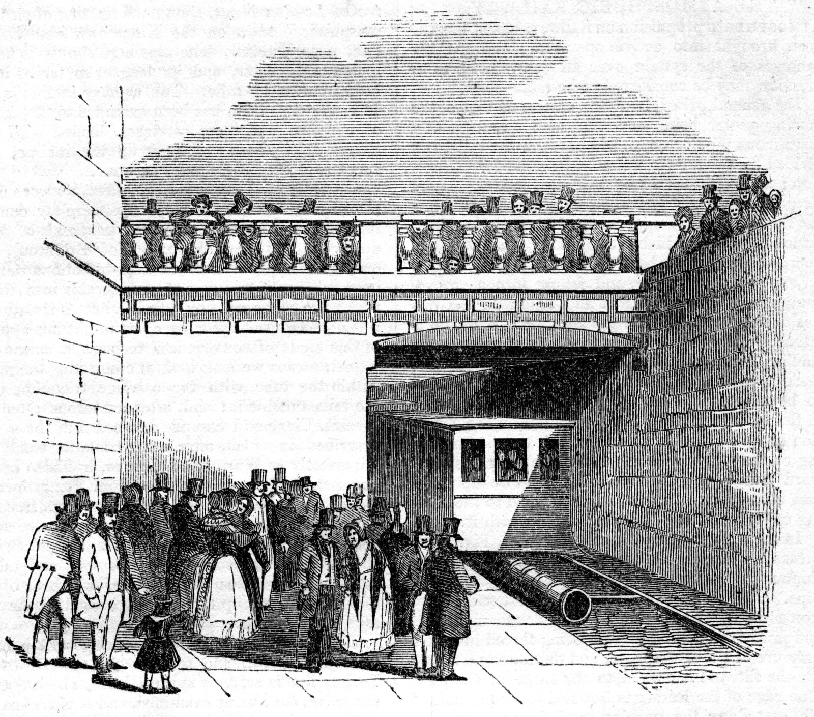 Kingstown and Dalkey Atmospheric Railway, near Dublin, 1845.
