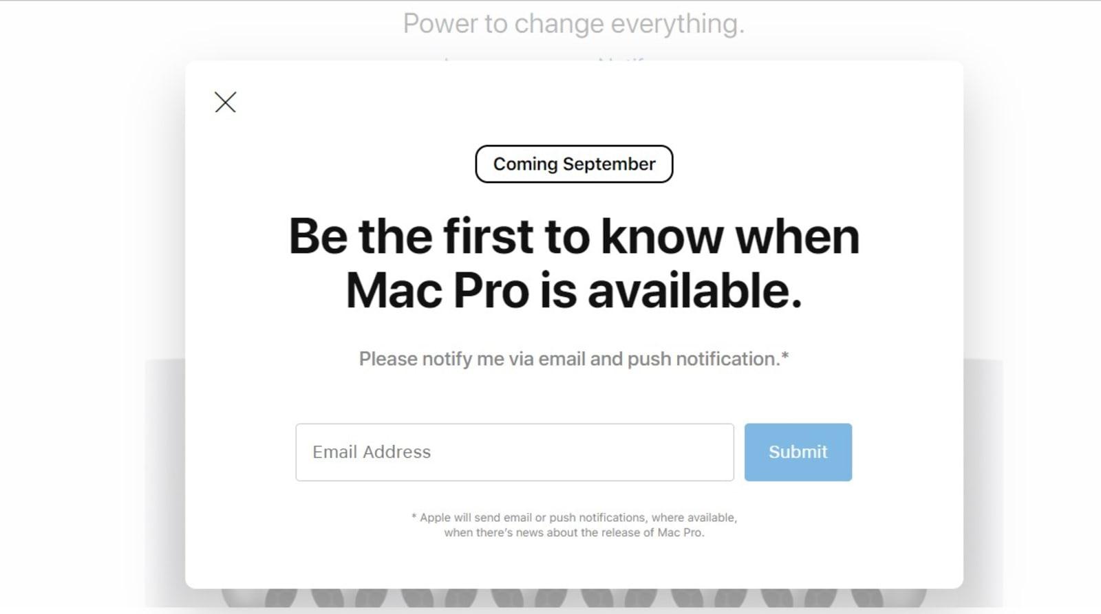 Apple Mac Pro release date leak