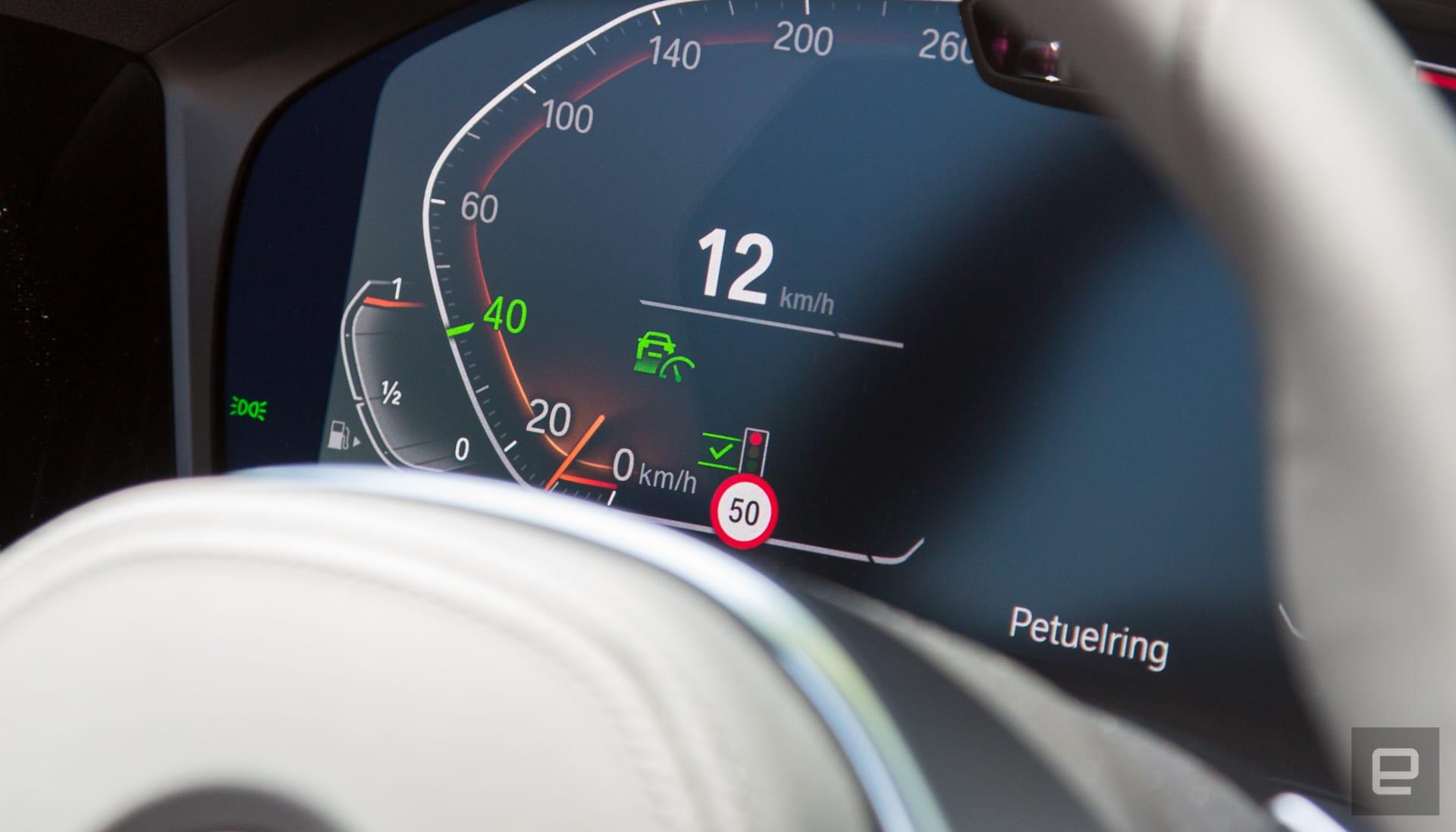BMW cruise control traffic light demo