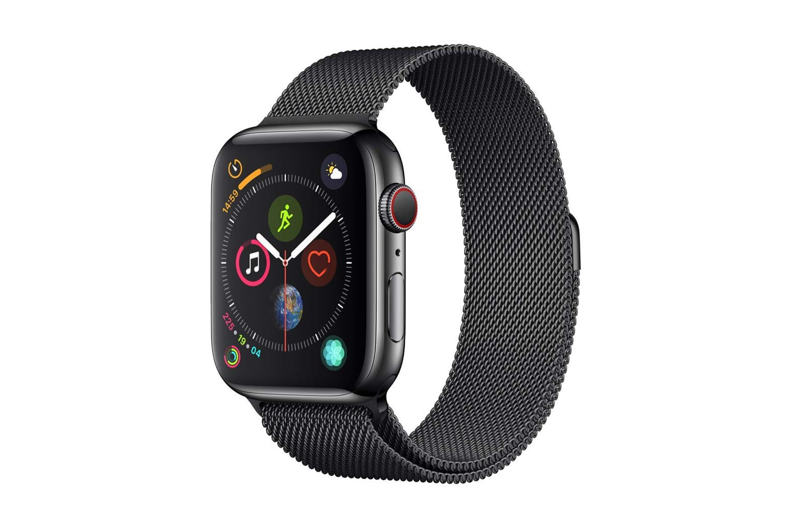Apple Watch Series 4 black steel with milanese loop