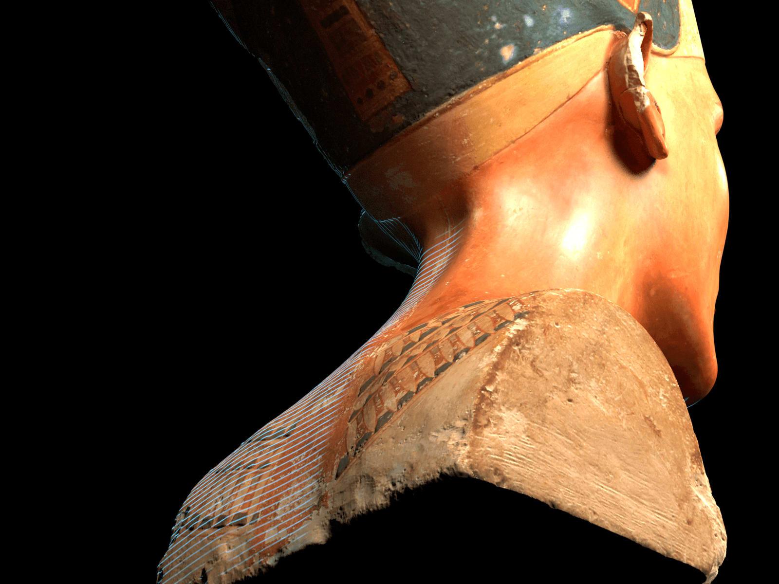 Nefertiti bust digitized 3D