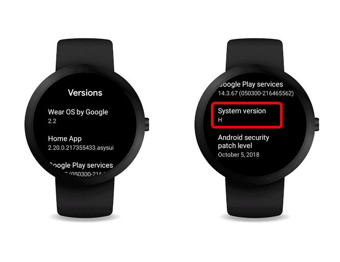 Wear OS System Version H