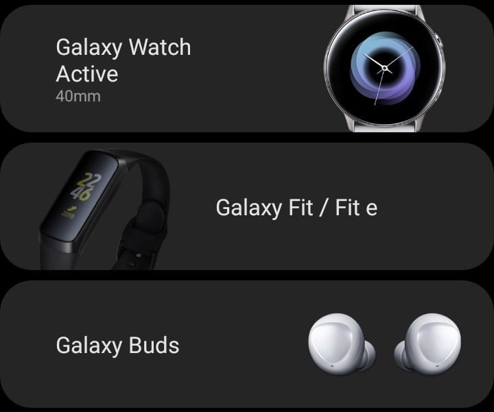 Samsung Galaxy Wearable App