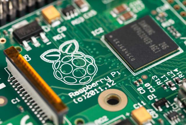Taipei, Taiwan - January 10, 2013: This is a studio close-up shot of a Raspberry Pi circuit board.
