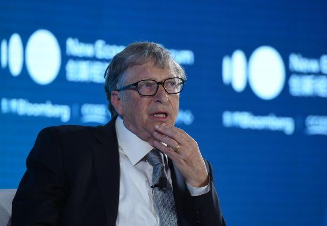 Bill & Melinda Gates Foundation Chairman Bill Gates speaks during 2019 New Economy Forum