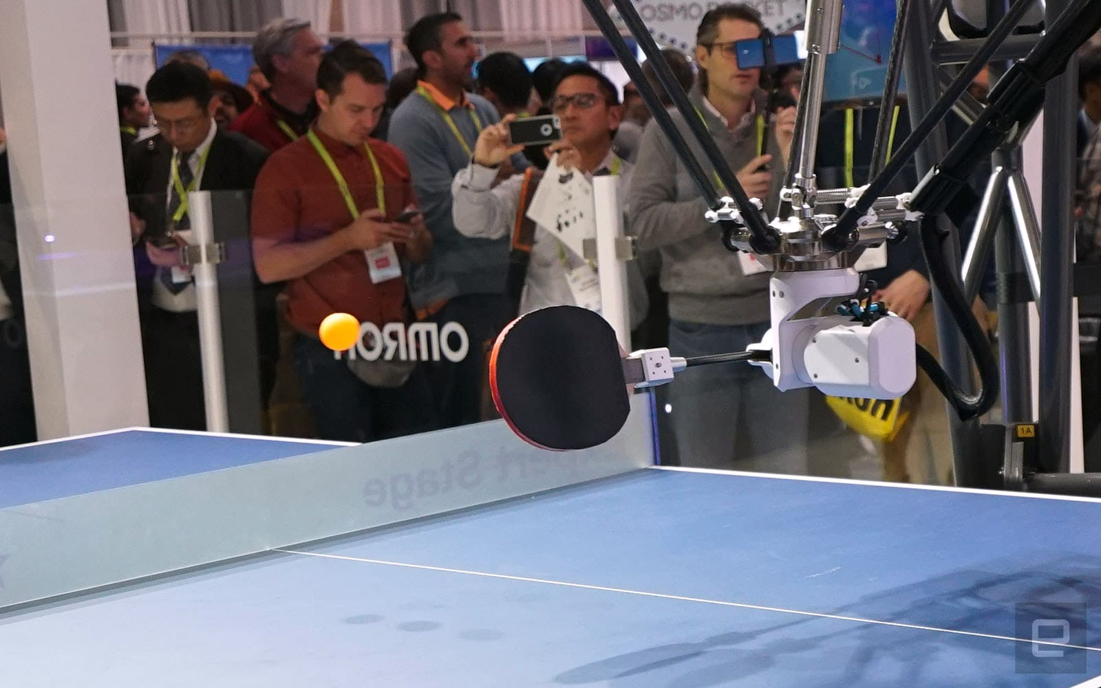 OMRON Forpheus ping pong robot at CES 2019