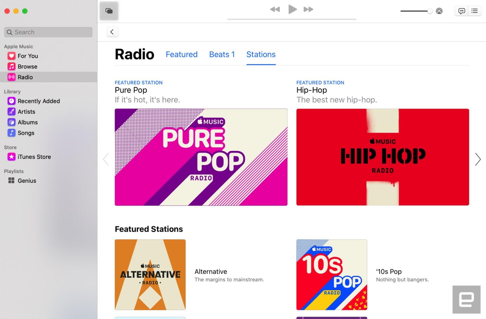 Music app in macOS Catalina