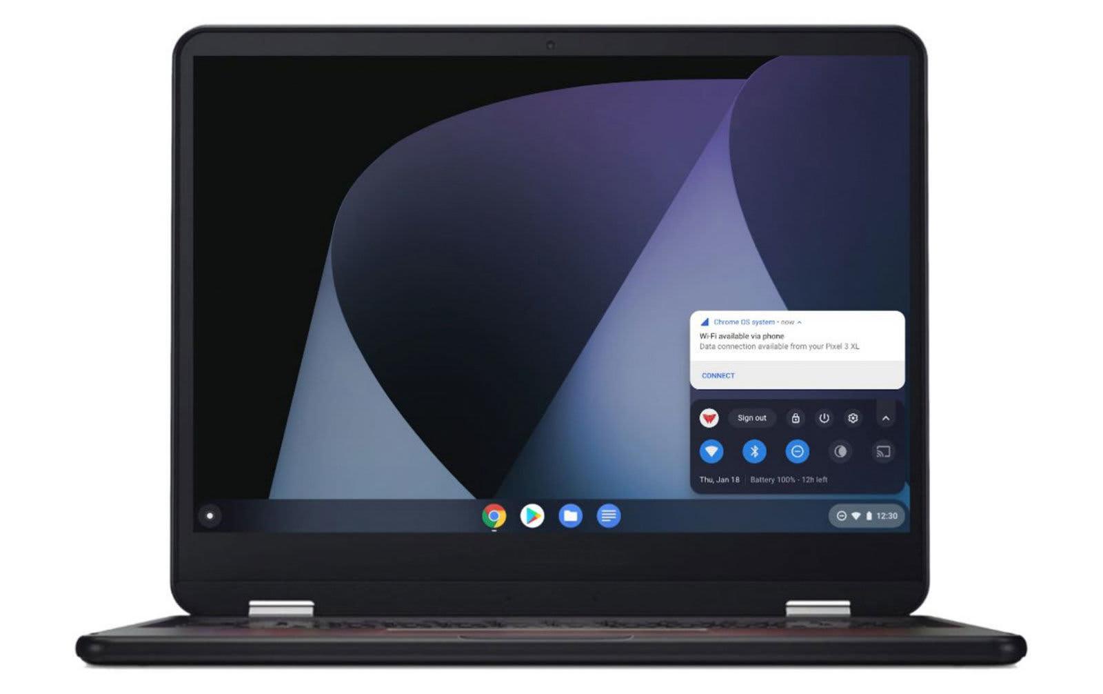 Chromebook instant tethering