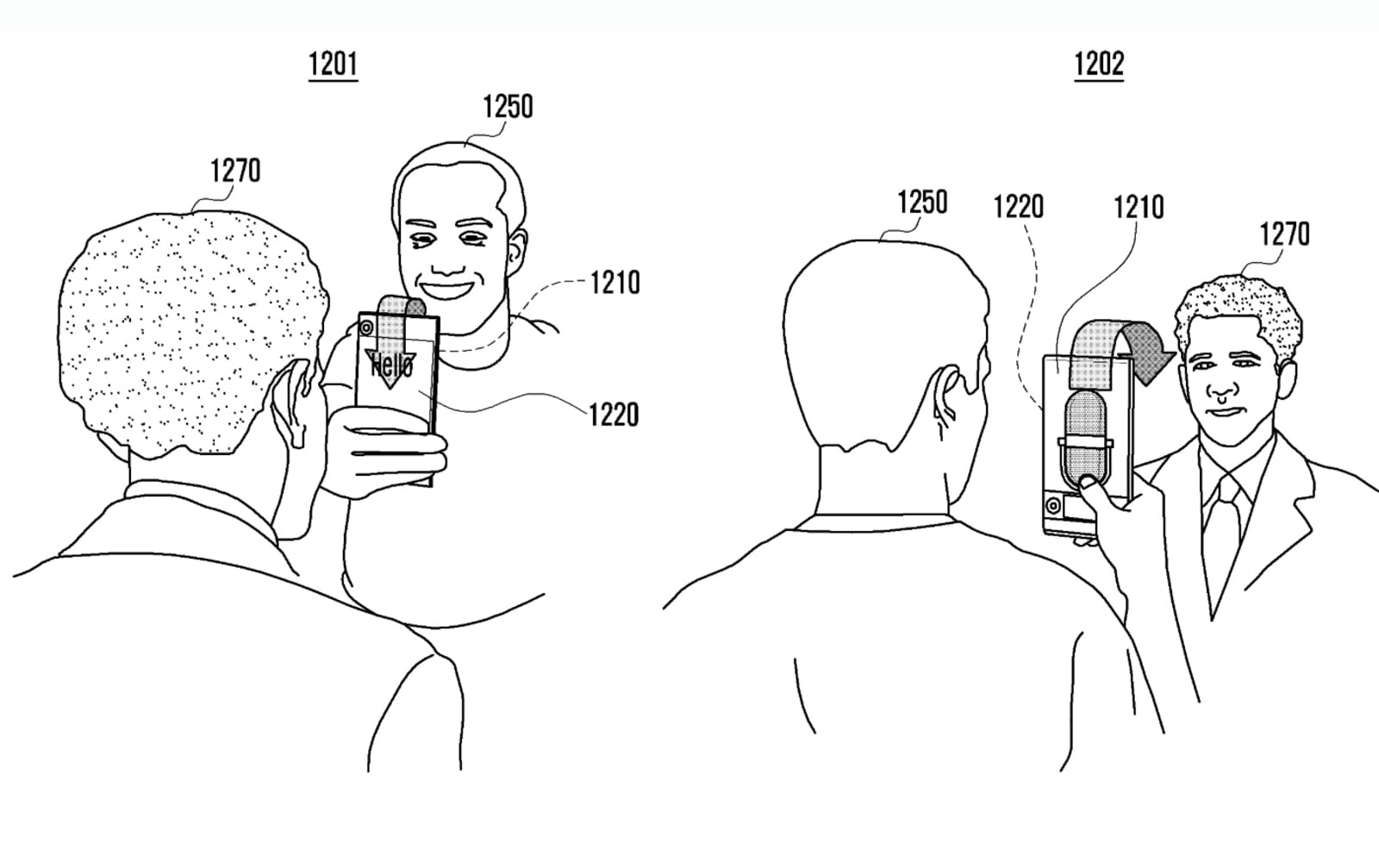 Samsung continuous screen patent