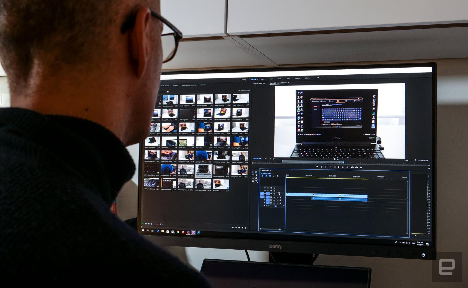 Gigabyte Aero 15 Y9 video editing