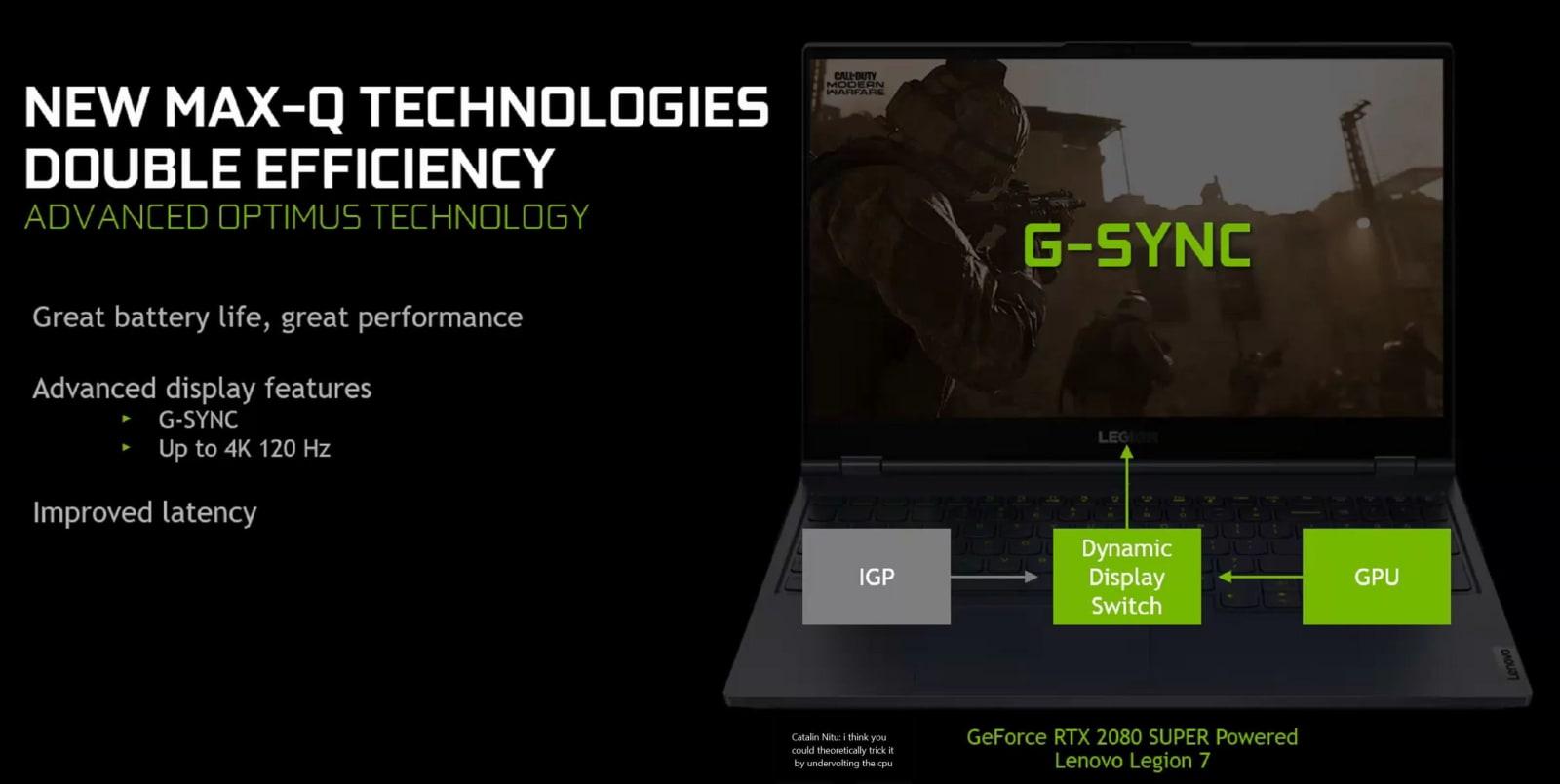 NVIDIA advanced optimus technology