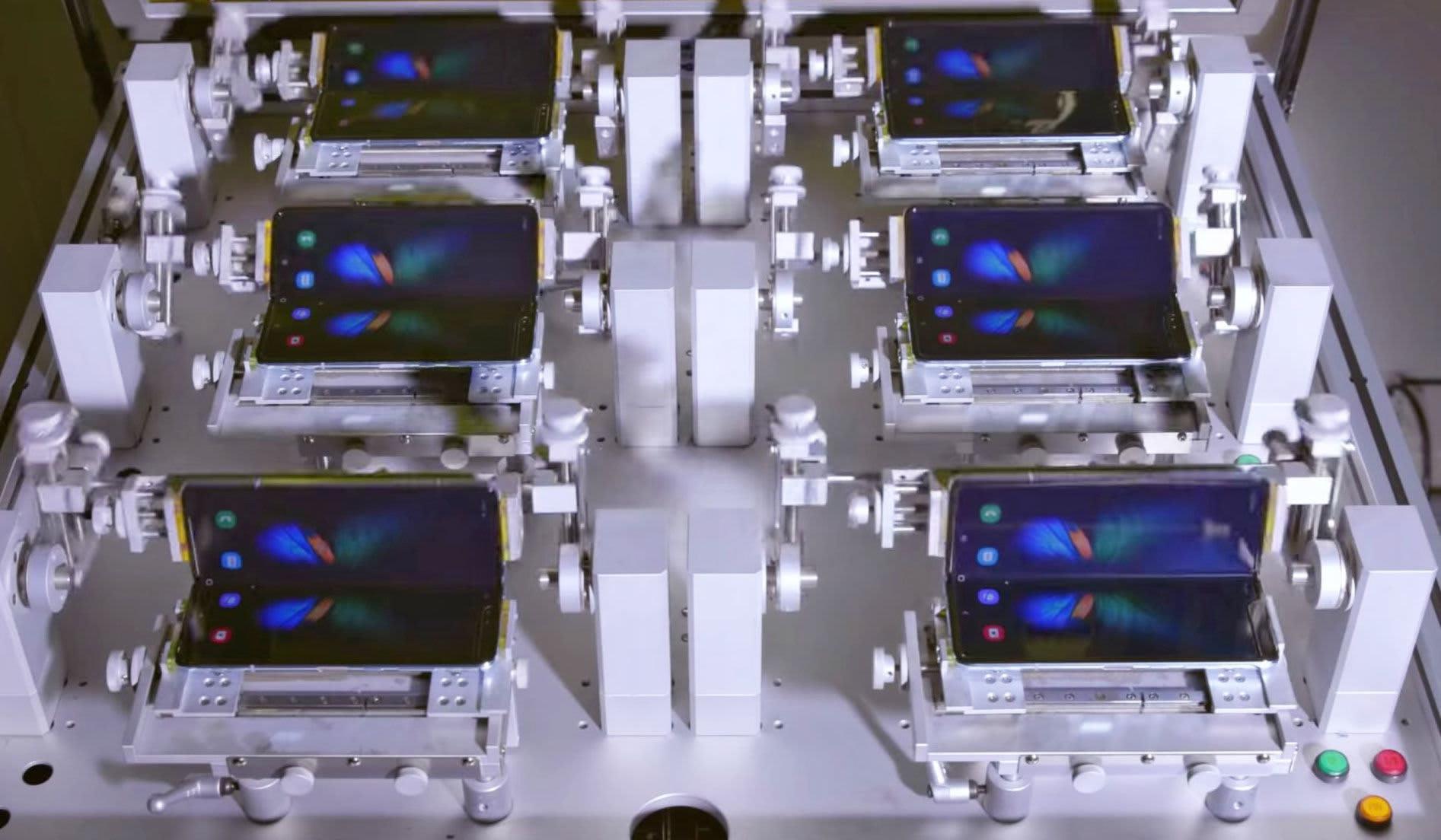 Galaxy Fold folding test