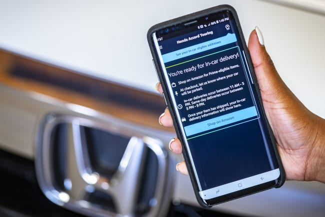 Honda to Offer Key by Amazon In-Car Delivery  for Eligible HondaLink® Remote Services Subscribers