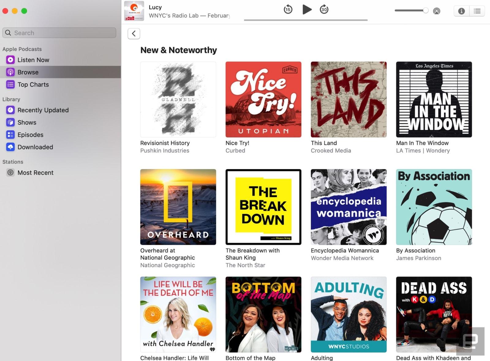 Podcast app macOS Catalina