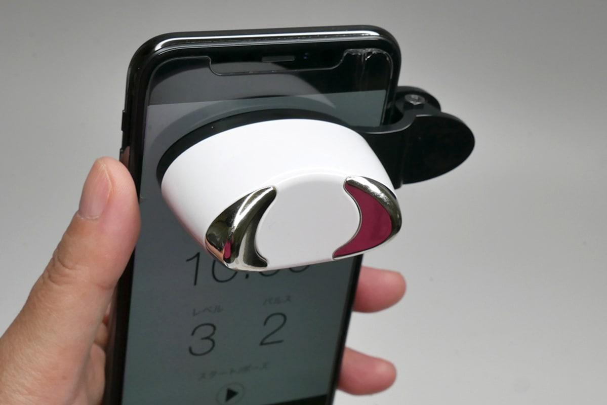 スマートフォンにはさんで使います
