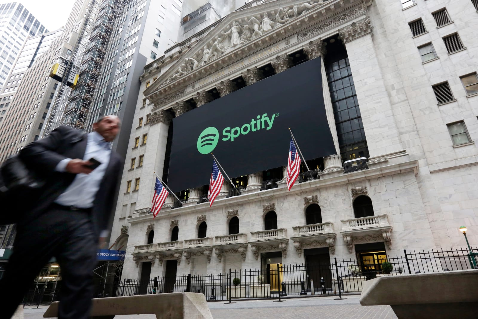 Financial Markets Wall Street Spotify IPO