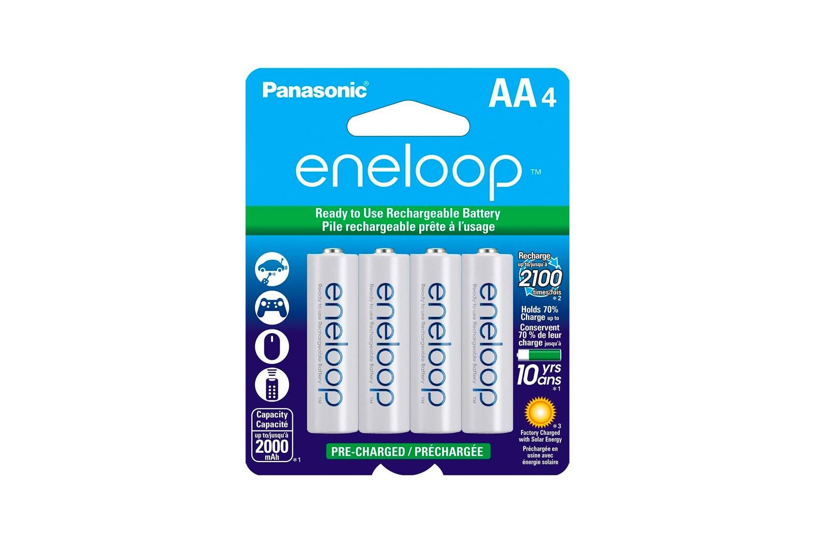 Panasonic Eneloop AA Rechargeable Batteries 4-Pack