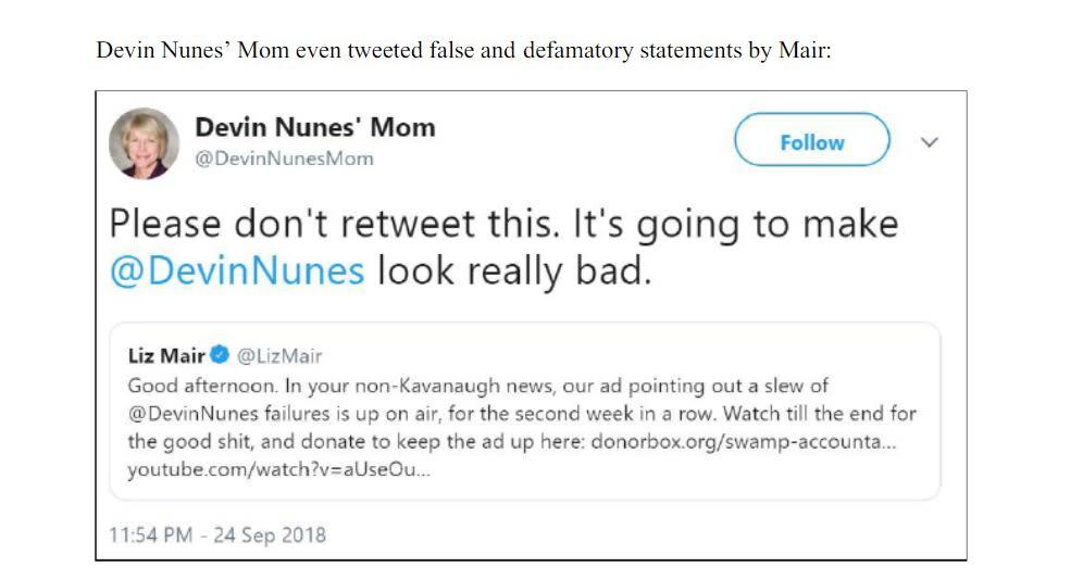 Devin Nunes Mom