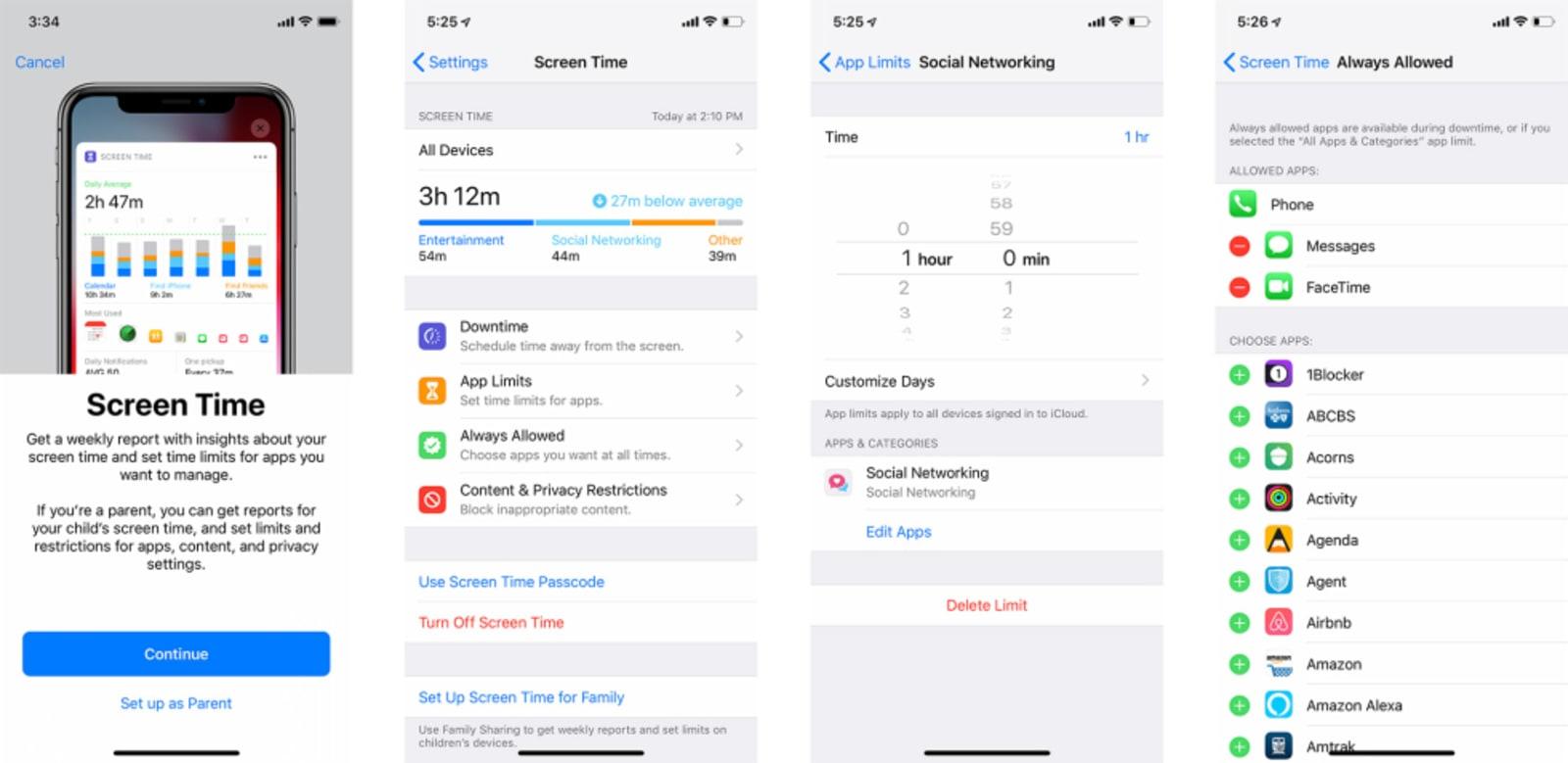 Screen Time in iOS