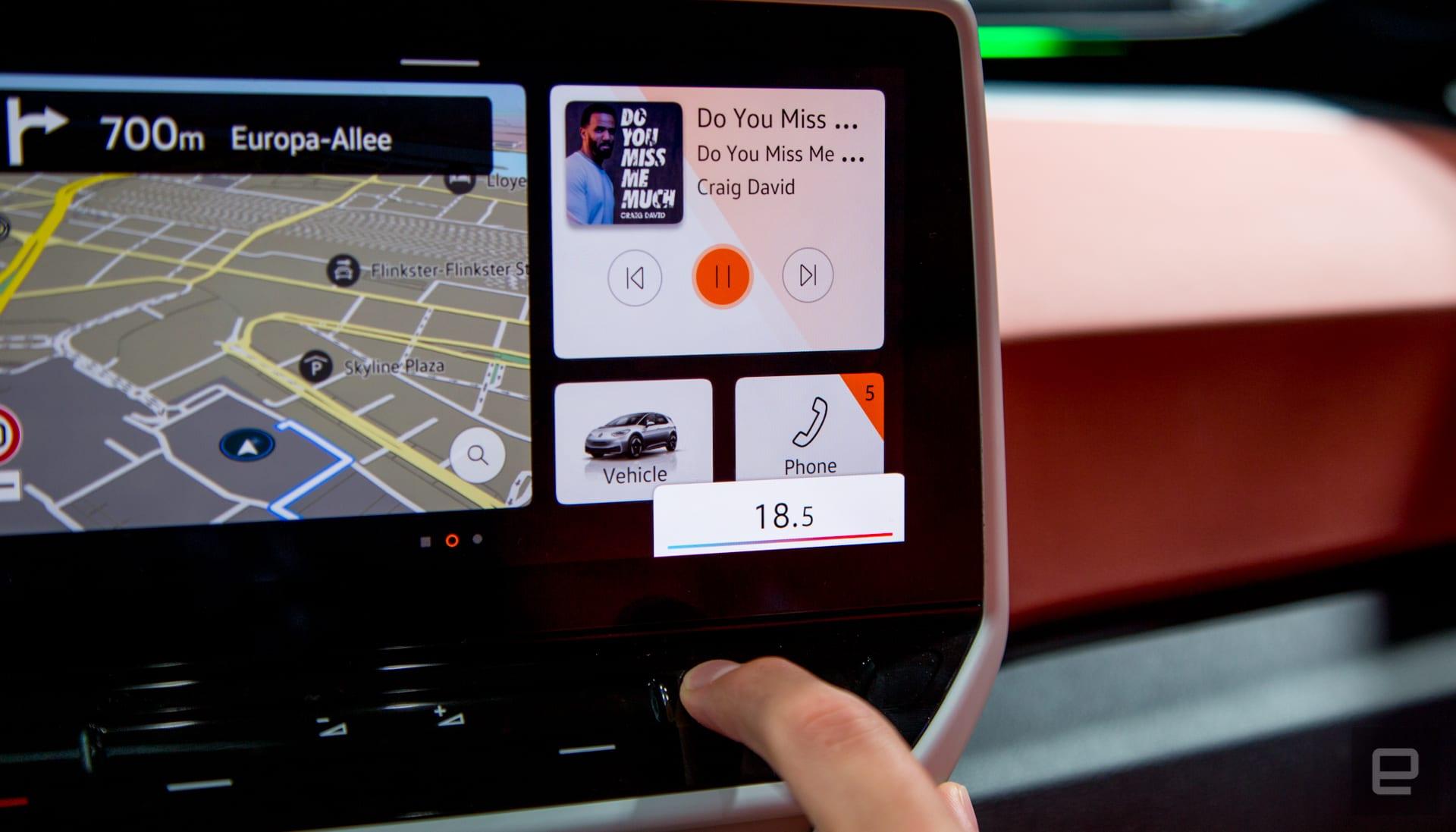 Volkswagen ID.3 infotainment system