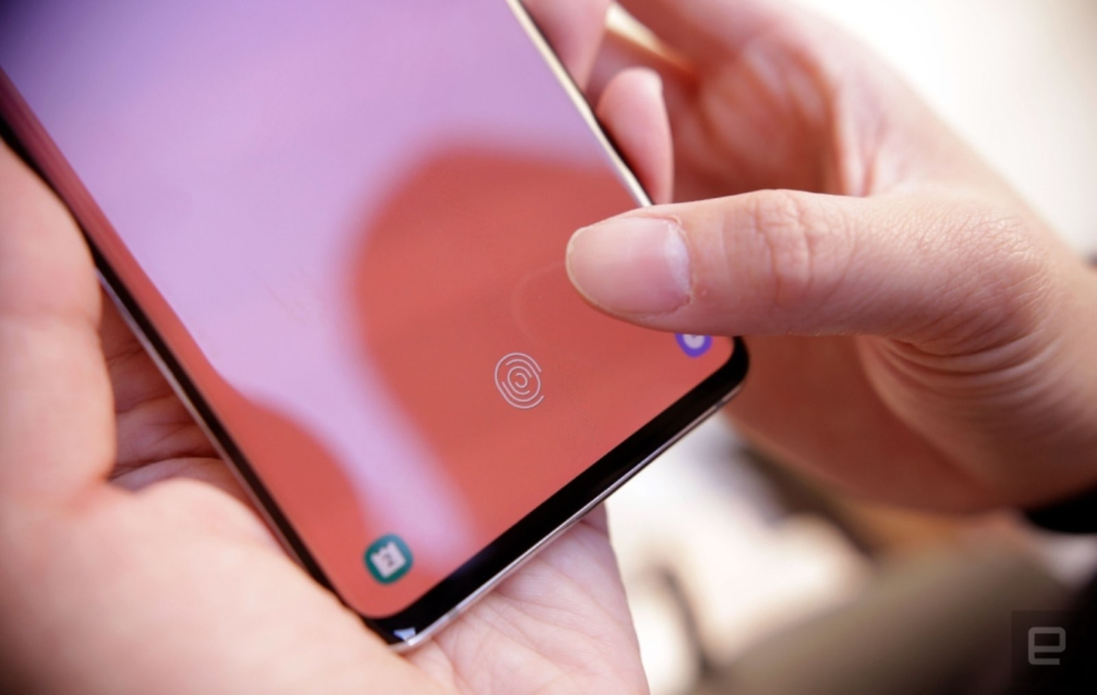 Samsung Galaxy S10+ fingerprint scanner