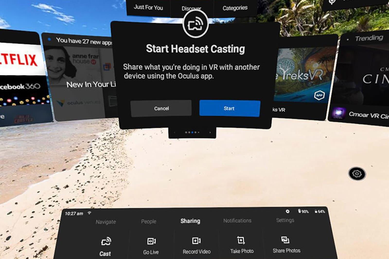 Oculus Go Casting