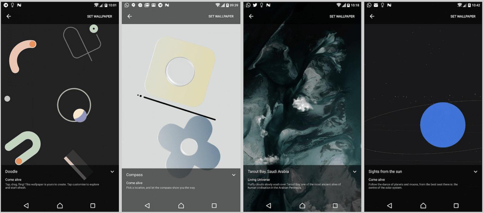 Pixel 4 Live Wallpapers