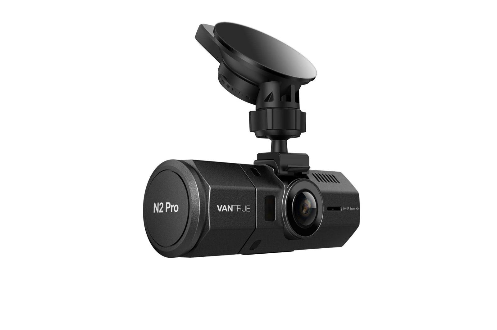 A Vantrue dashboard camera
