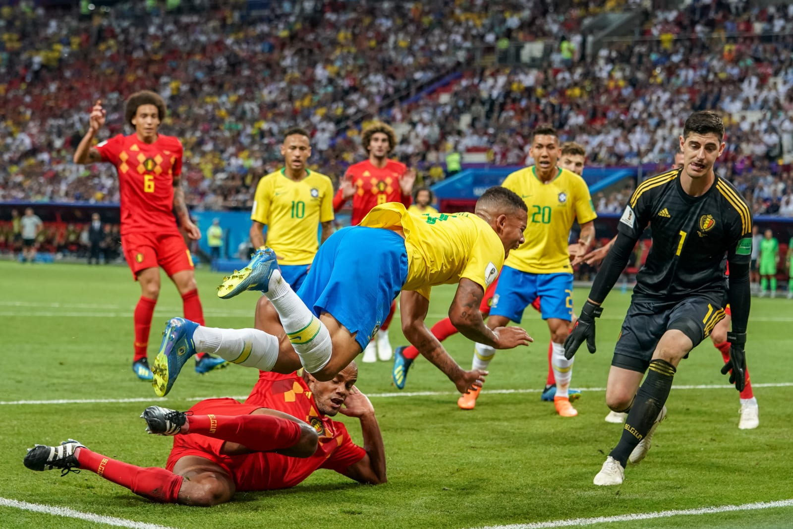2018 FIFA World Cup Football Quarter Final Brazil v Belgium Jul 6th
